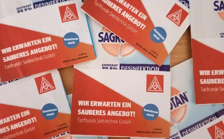 Neuer Tarifvertrag für die Beschäftigten bei der Siebtechnik GmbH